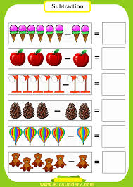 kids under 7 subtraction worksheets