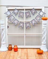free printable burlap thanksgiving banners a houseful of handmade