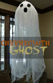 How To Make Hanging Halloween Ghosts How Tos Diy by Cute And Easy Cheesecloth Hanging Ghosts