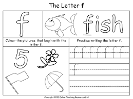 all worksheets tracing letter f worksheets printable