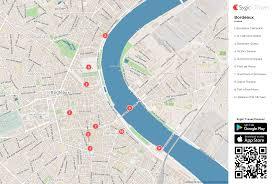 Bordeaux France Map Bordeaux Printable Tourist Map Sygic Travel