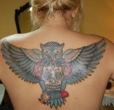 tribal owl tattoo 56 best flying owl tattoos