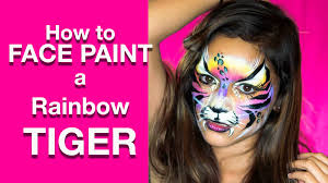 tiger mask halloween how to face paint tiger kitty mask youtube