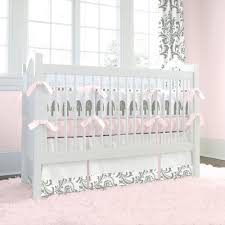 Infant Crib Bedding Pink And Gray Elephants Crib Bedding Carousel Designs