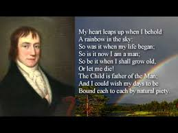 poem my heart leaps up the rainbow by william wordsworth