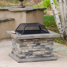 concrete wood burning fire pit portable gas fire bowl table fire