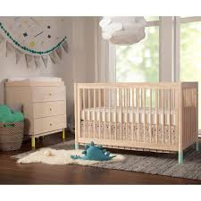 Convertible Crib Bed Babyletto Gelato 4 In 1 Convertible Crib With White Color And