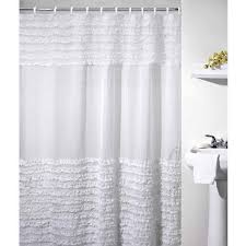 Ruffled Shower Curtains Ruffles Shower Curtain White Walmart