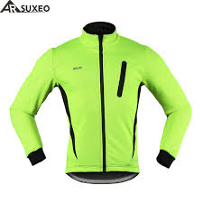 thermal cycling jacket arsuxeo 2017 thermal cycling jacket winter warm up fleece bicycle