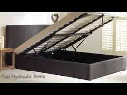 bestpricebeds seville fabric ottoman bed frame youtube