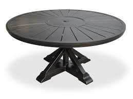 cast aluminum dining table excelsior 60 round cast aluminum slat top table with pedestal base