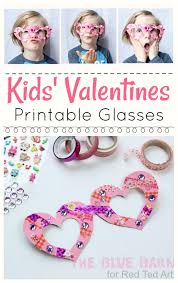 valentines kids kids s glasses craft ted s