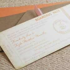 office depot invitations printing vintage travel boarding pass wedding invitation