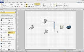 microsoft visio 2010 basic network diagram youtube