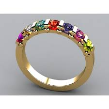mothers ring 7 stones custom s rings in gold platinum free shipping
