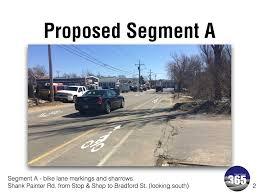 bike lane u0026 sharrows approved for shank painter road u2013 pedal ptown