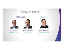 Doctors Teladoc Tdoc Acquires Best Doctors M U0026a Slideshow Teladoc