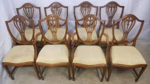 Yew Dining Table And Chairs Of Eight Georgian Style Yew Dining Chairs Sold