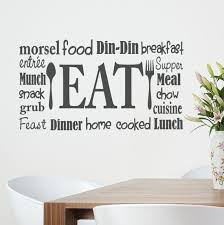 Wall Decals For Dining Room Eat Wall Word Vinyl Decal Kitchen Decor Restaurant Wall