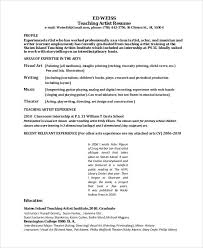 Example Secretary Resume Example Of Artist Resume Commercial Artist Resume Sample