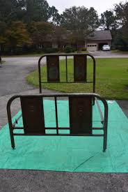 Remove Rust From Metal Furniture by Refinishing A Very Rusty Metal Bed Frame A Long Life