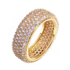 ladies finger rings images 2018 finger rings ladies copper ring gold plated with cubic zircon jpg