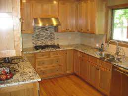 Kitchen Island Granite Countertop Granite Countertop Kitchen Cabinets Langley Green Glass Tiles