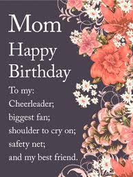 lovely flower happy birthday wishes card for mom birthday