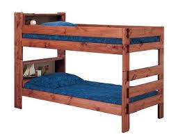 Wood Twin Over Twin Stackable Bookcase Headboard Bunk Bed Frame - Solid wood bunk bed