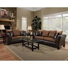 Living Room Table Ls Flash Furniture Riverstone Chocolate Microfiber Living Room