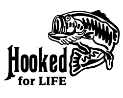 hooked for life fishing decal bass fishing sticker