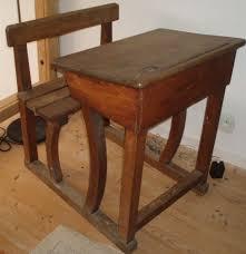 bureau d 馗olier ancien en bois 1 place pupitre d écolier jyfoutoutemptit
