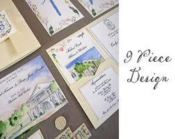 custom designed wedding invitations painted watercolor wedding stationery by tyingtheknots