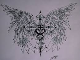 cross with angel wings by asiaart87 on deviantart