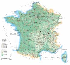 Blank Physical Map Of Europe by Physical Map Of France Recana Masana
