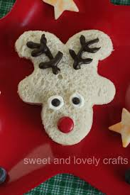 sweet and lovely crafts reindeer sandwich christmas pinterest