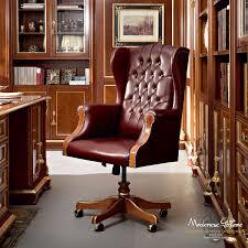 bureau chesterfield fauteuil de bureau chesterfield en cuir à roulettes pivotant