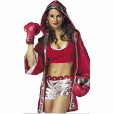 boxer costume and silver boxer girl costume
