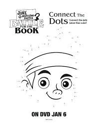 free printable jake neverland pirates connect dots