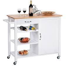 Rolling Storage Cabinet Giantex 4 Tier Kitchen Trolley Cart W Wheels Rolling Storage