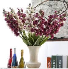 20pcs simulation plant artifical bell orchids flowers long branch