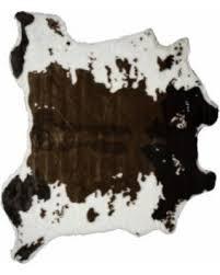 Faux Cowhide Rugs Bargains On Luxe Brown U0026 White Faux Cowhide Rug Throw 4 U0027 X 5