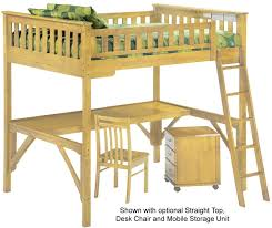 spices collection ginger twin size loft bed in natural finish