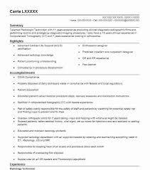 Medical Technologist Resume Examples by Best Radiology Technician Resume Example Livecareer