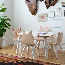 oeuf bear play chair birch set