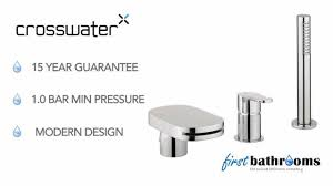 crosswater central bath shower mixer with diverter ce421dc youtube crosswater central bath shower mixer with diverter ce421dc
