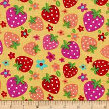 newcastle novelties strawberry yellow discount designer fabric
