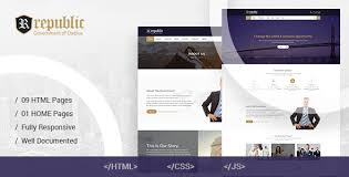 free bootstrap templates for government republic responsive government html template by hastech themeforest