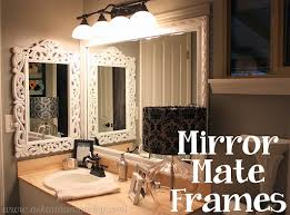 Diy Mirror Frame Bathroom Frame Your Own Mirror Build Your Own Mirror Frame Merrypad How To