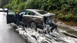 luxury semi trucks truck overturns spills nearly 4 tons of slime eels on oregon